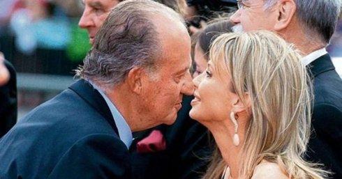 El Rey con la imputada Corina.