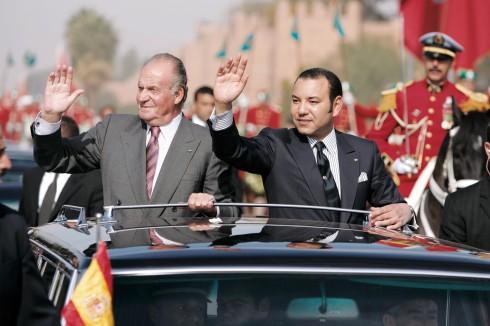 """-El Borbón con su """"hermano"""" Mohamed"""