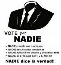 VOTE POR NADIE
